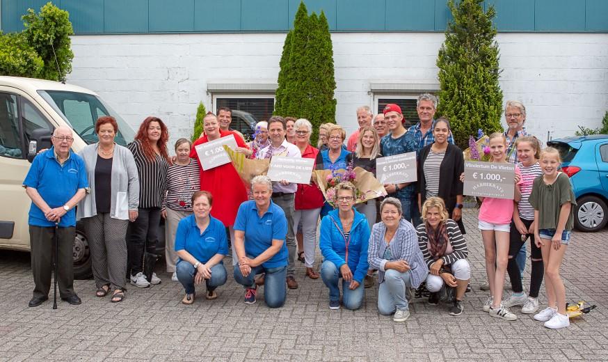 Uitreiking eerste cheques Habbekrats in 2018