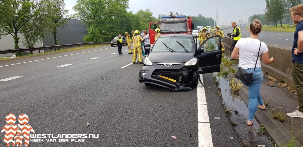 Twee ongelukken na zware regenval