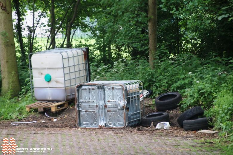 Drugsafval gedumpt aan de Madesteinweg