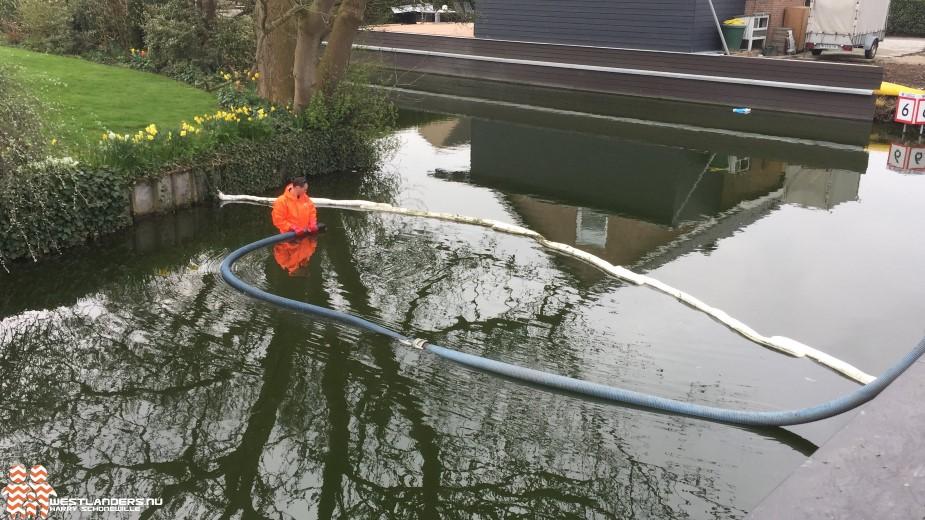 Veel werk na lozing vervuilde olie in slootwater