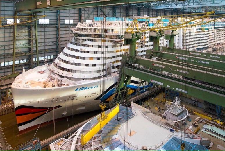 Nieuw AIDA cruiseschip in de vaart