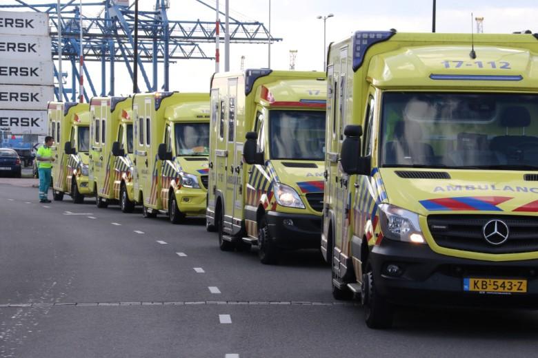 Zeer grote reddingsactie voor opgesloten personen in container