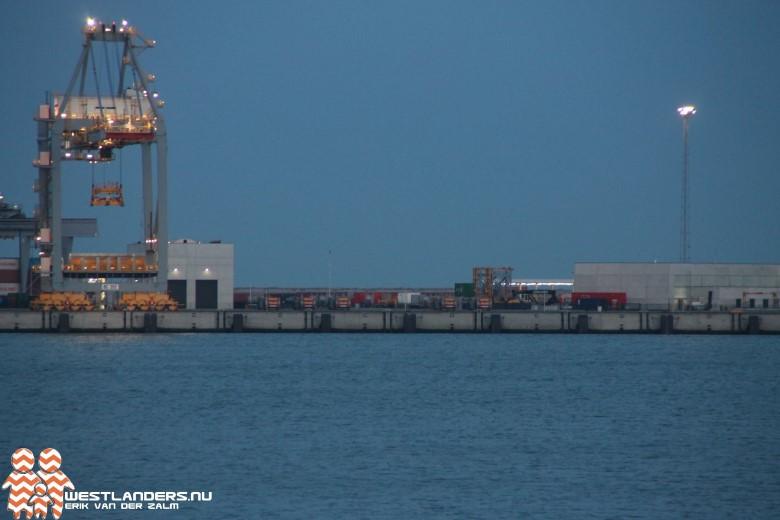 Brandmelding bij containerkraan APM Terminals