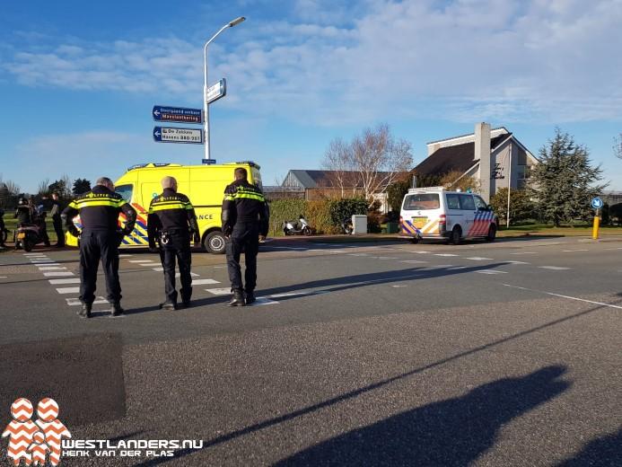 Scooterrijder gewond na ongeluk Haakweg