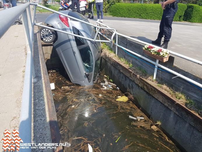 Auto in de sloot aan de Nieuweweg