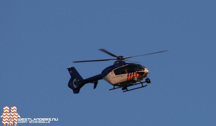 Inzet politiehelikopter tijdens actie Landelijke Eenheid