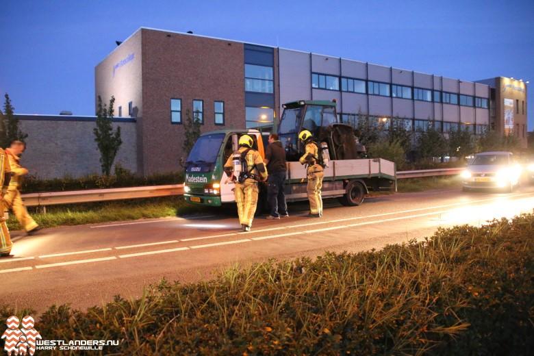 Voertuigbrand aan de Burgemeester Elsenweg