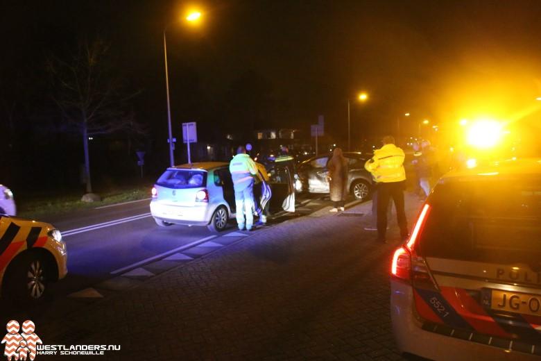 Ongeluk met blikschade bij tankstation Middel Broekweg