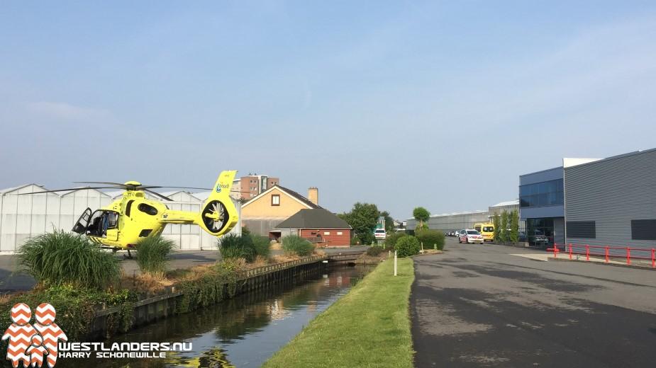 Inzet traumahelikopter voor bedrijfsongeval