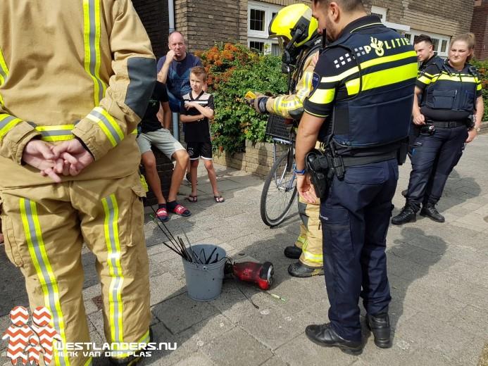 Hoverboard veroorzaakt binnenbrand