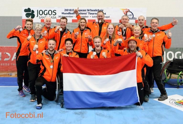 Westlandse rolstoelhandballers winnen bronzen medaille op EK