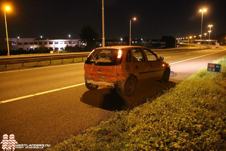 Automobiliste gewond na ongeluk A20