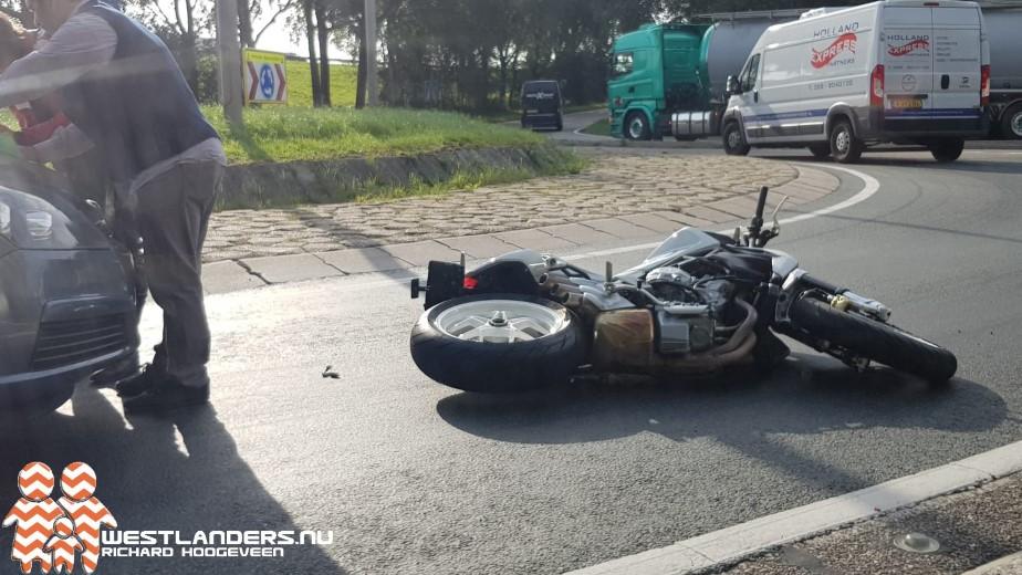 Motorrijdster onderuit op de Coldenhovelaan
