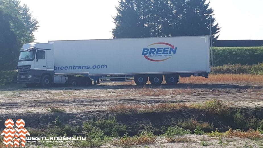 Vrachtwagenchauffeurs in de problemen