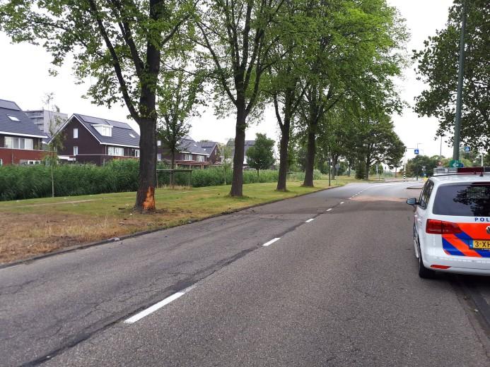 Autodieven parkeren Seat tegen boom