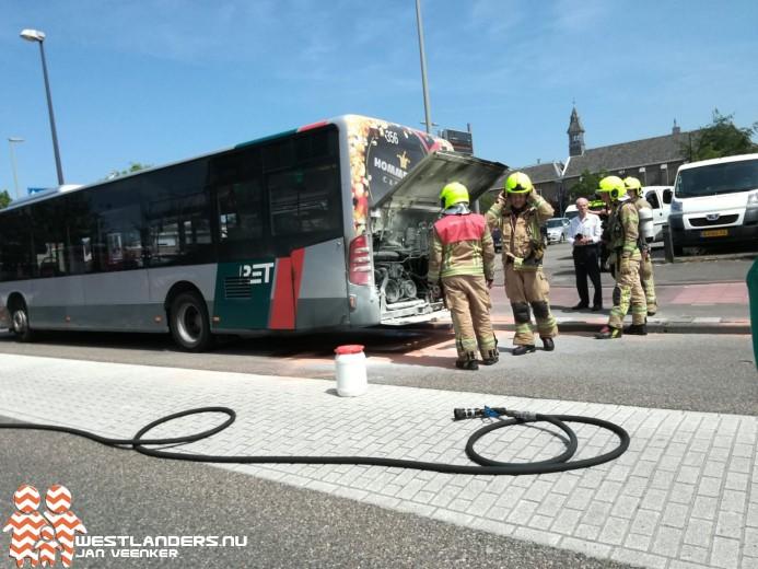 Brand in RET bus in Maassluis