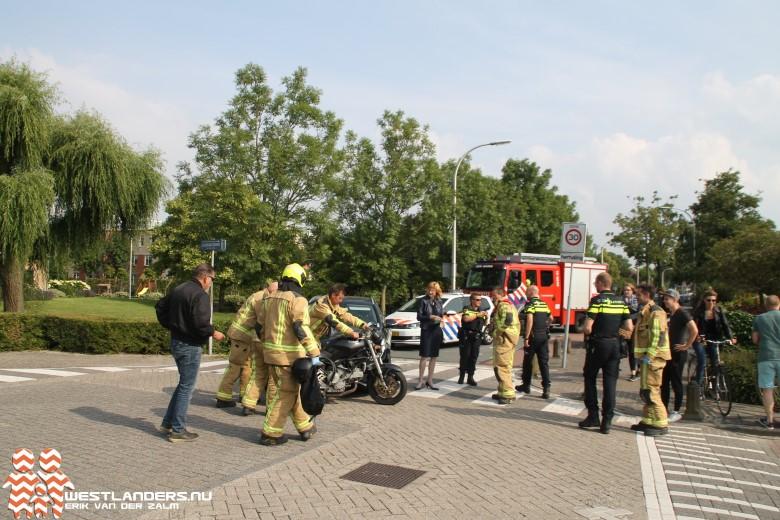 Inzet brandweer voor motorongeluk