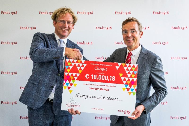 Fonds 1818 trakteert gemeente Midden-Delfland