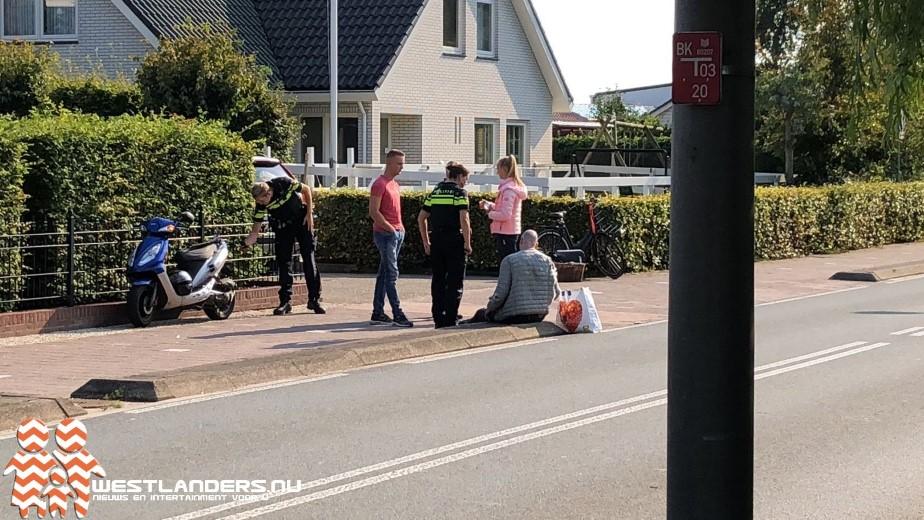 Ongeluk door boodschappentas aan stuur