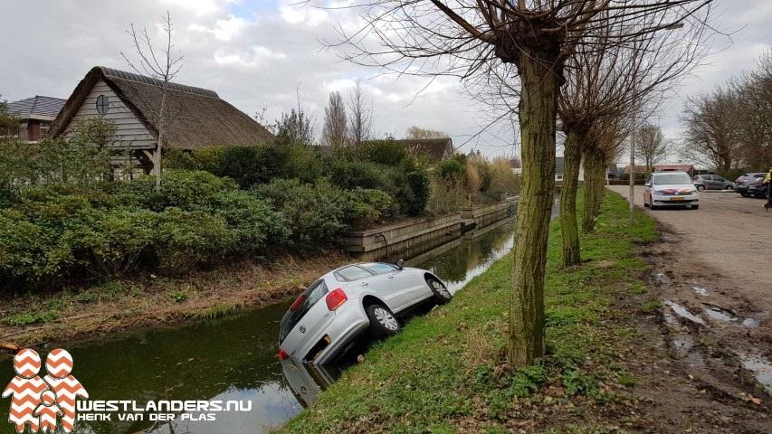 Auto te water aan het Prinsenpark