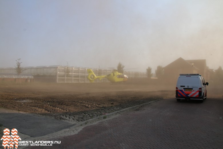 Traumahelikopter korte tijd in Poeldijk