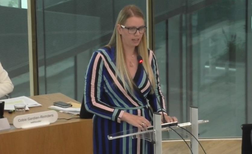 Betoog Kelly van Tol (GBW) inzake begroting inkoopbureau H10