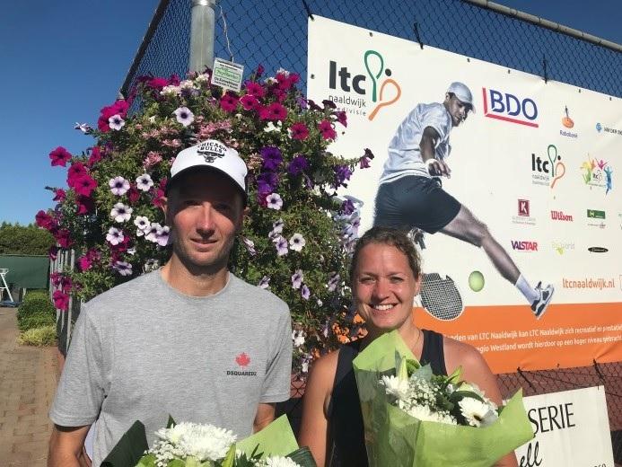 Frantzen en Sprakelaar winnaars Open Bloemen Toernooi Naaldwijk