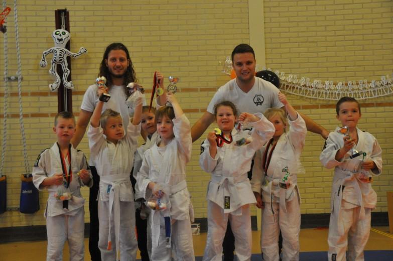 2e Halloween Team judo toernooi dik geslaagd
