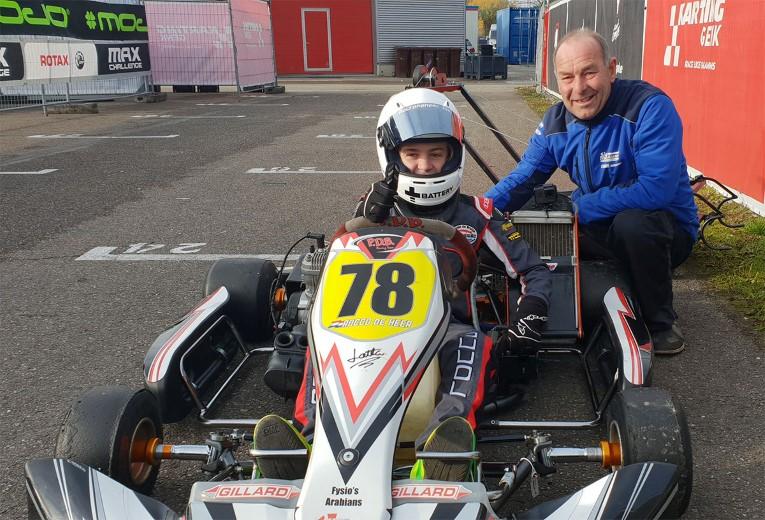 Spannende races Maassluis' karttalent Rocco de Heer in Genk