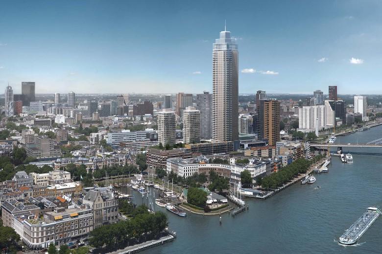 Rotterdam krijgt megatoren van 215 meter hoog