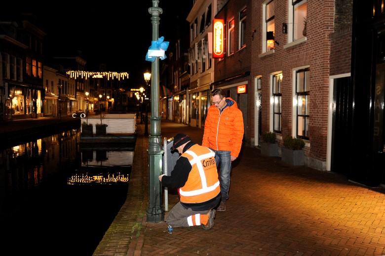 Historische straatverlichting binnenstad Maassluis hersteld