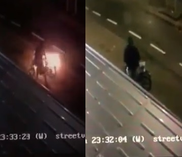 Gestolen snorscooter in brand gestoken