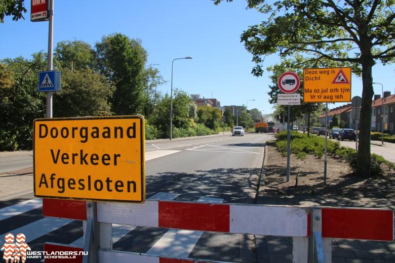 Reconstructie Kruisbroekweg - Middel Broekweg begonnen