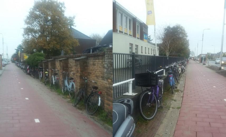 Collegevragen inzake fietsenstalling bushalte Nieuweweg