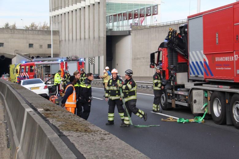 Inzet traumahelikopter bij ongeval Beneluxtunnel