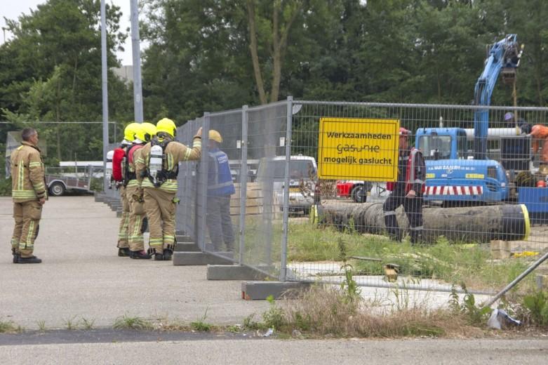 Flinke gaslucht bij sportcentrum Vlaardingen