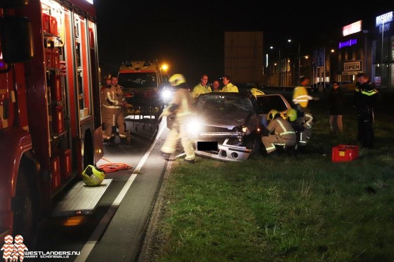 Automobiliste gewond na ongeluk Wippolderlaan