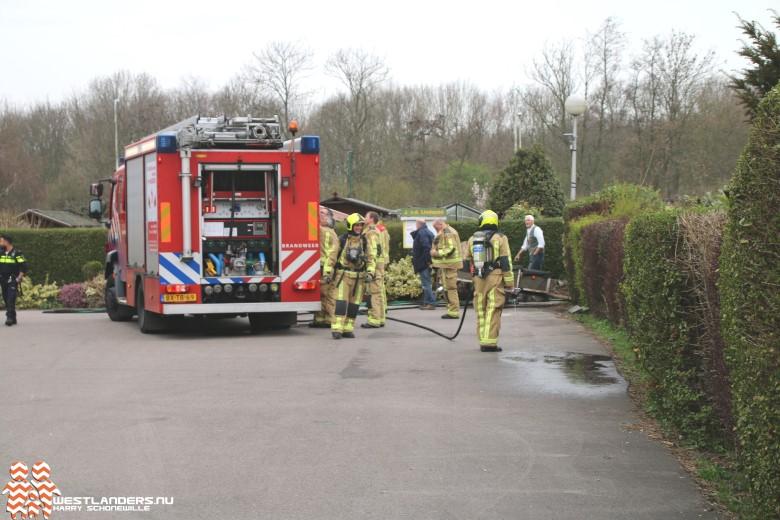 Brandweer rukt uit voor vuurton