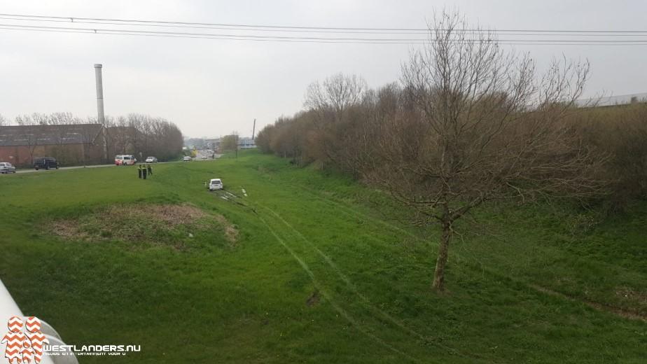 Alternatieve route eindigt in gras aan de Dorpskade