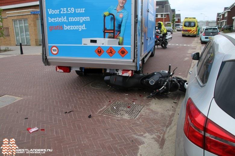 Motorrijder licht gewond bij ongeluk Rode Kruislaan