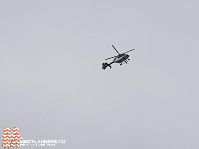 Politiehelikopter inzet na ongeluk in Naaldwijk