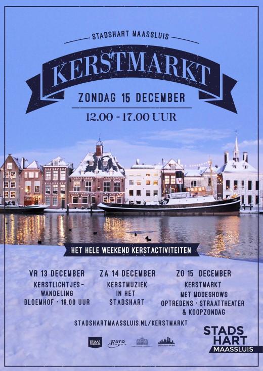 Kerstmarkt in Maassluis op 16 december