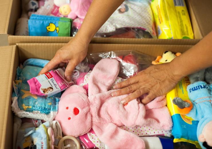 Kinderopvang in actie voor Stichting Babyspullen