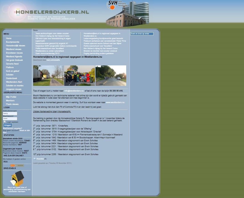 Honselersdijkers.nl gaat begin juli offline