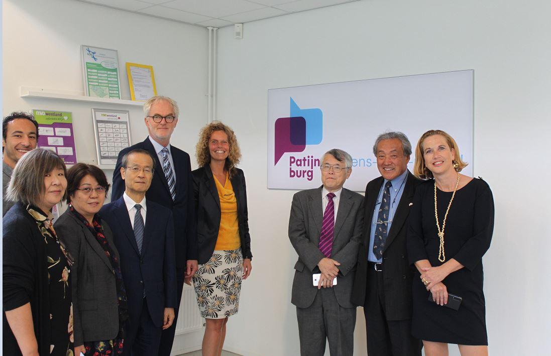 Japanse delegatie op bezoek bij Patijnenburg