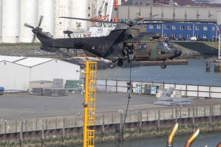 Volgende week oefening Port Defender in de haven