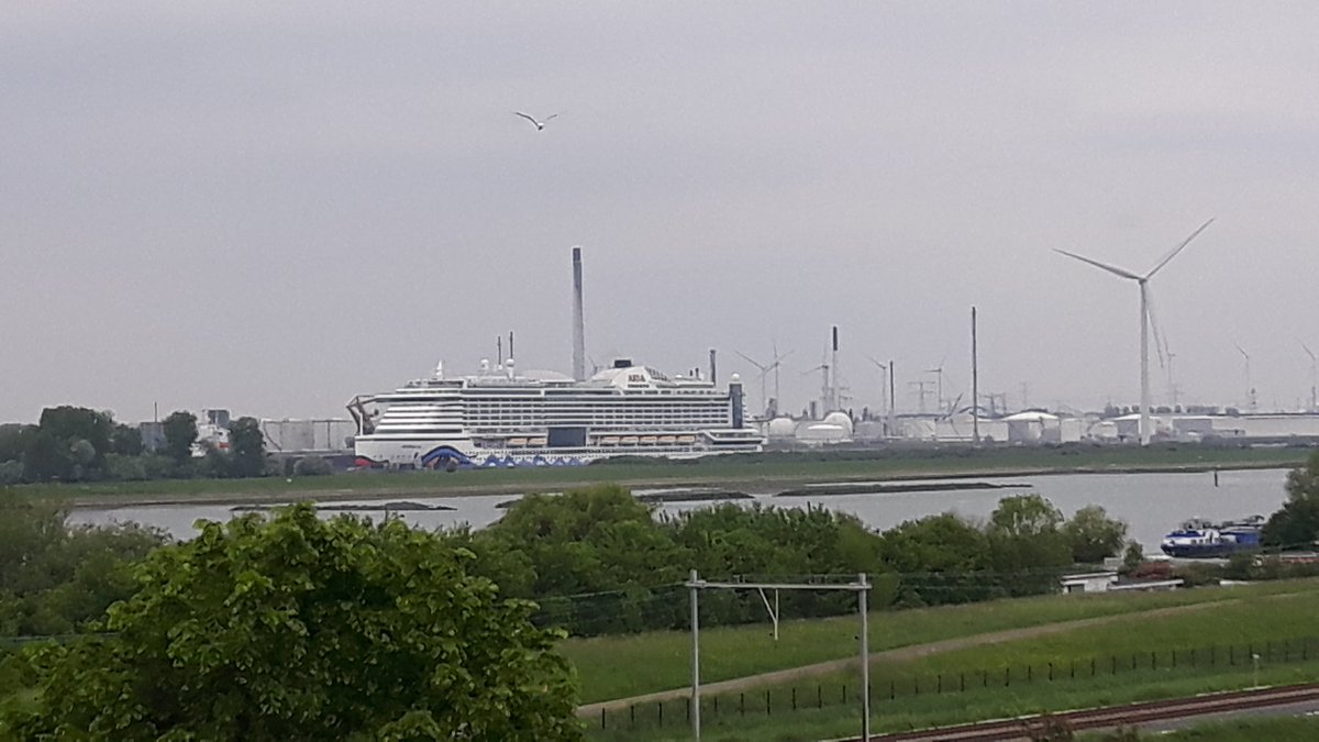 Cruiseschip in vreemde wateren