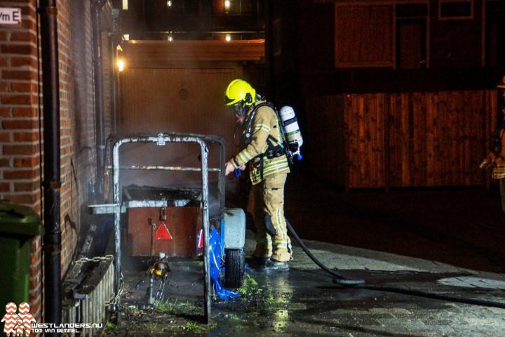 Brand aan de Jacob Catsstraat Maassluis