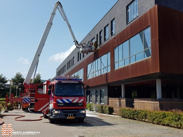 Middelbrand bij ISW Hoogeland