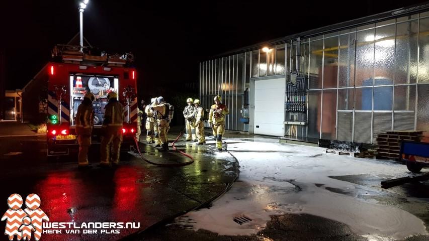 Brandweer in actie voor hoogspanningsruimte